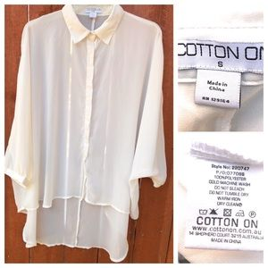 Cotton On High Low Sheer Blouse